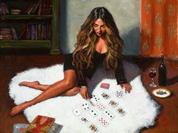 Solitaire by Fabian Perez - Original Painting on Stretched Canvas sized 24x18 inches. Available from Whitewall Galleries